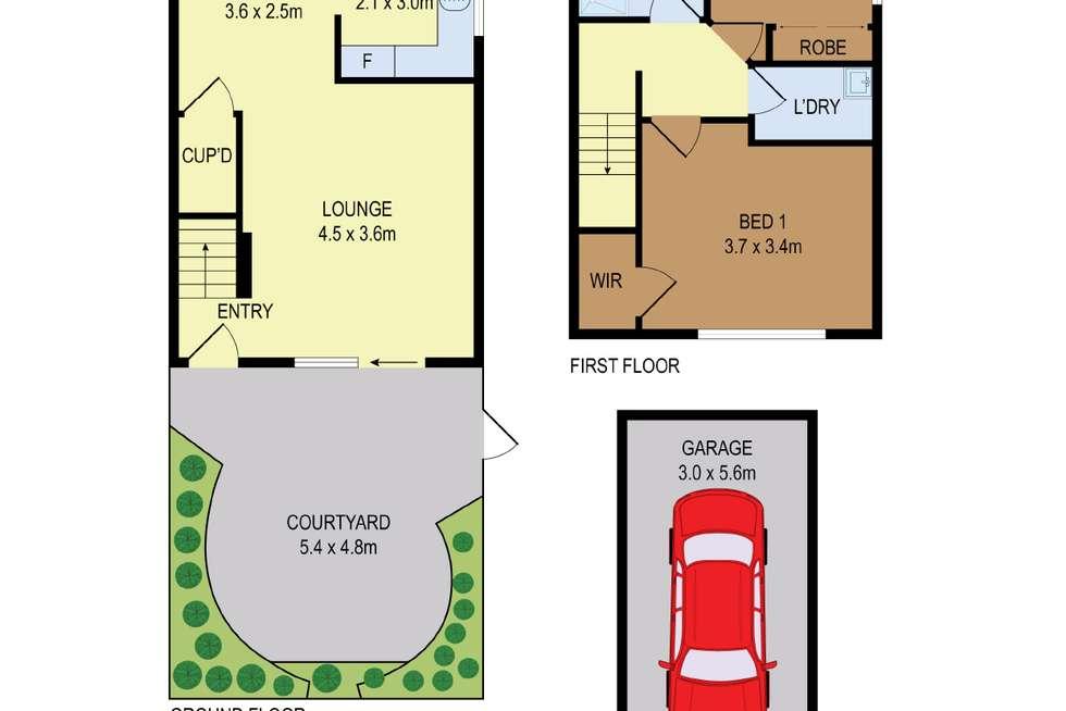 Floorplan of Homely townhouse listing, 16/19 Taranto Road, Marsfield NSW 2122
