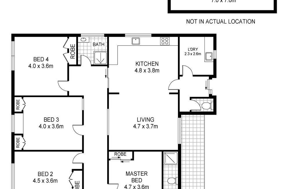 Floorplan of Homely house listing, 16 Laguna Court, Portland VIC 3305
