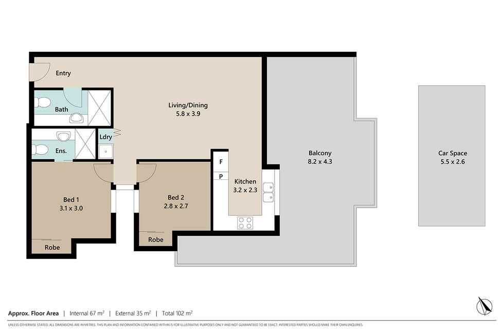 Floorplan of Homely apartment listing, 8/7 Selborne Street, Mount Gravatt East QLD 4122