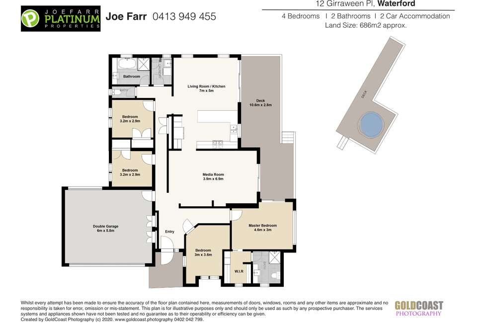 Floorplan of Homely house listing, 12 Girraween Place, Waterford QLD 4133