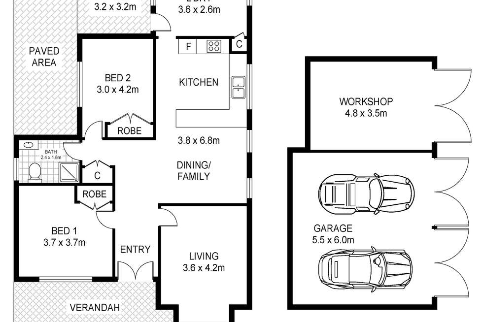 Floorplan of Homely house listing, 5 Townsend Street, Portland VIC 3305