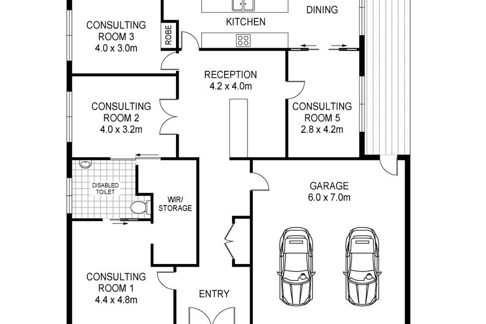 Floorplan of Homely house listing, 290 Edgar Street, Portland VIC 3305