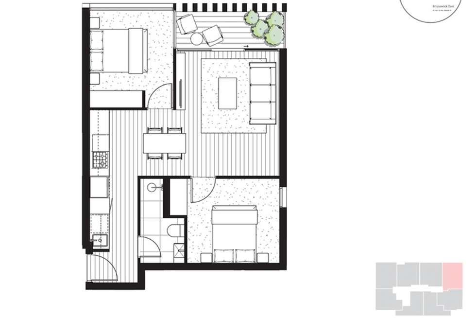 Floorplan of Homely apartment listing, 105/124 Nicholson Street, Brunswick East VIC 3057