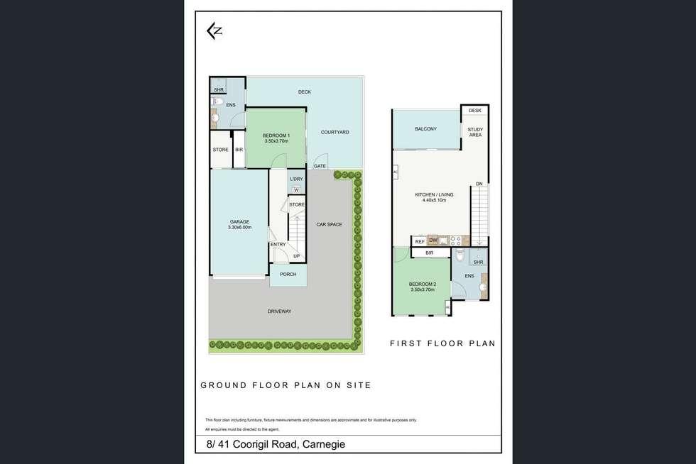 Floorplan of Homely townhouse listing, 8/41 COORIGIL ROAD, Carnegie VIC 3163