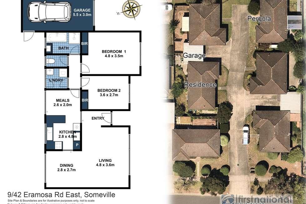 Floorplan of Homely unit listing, 9/42 Eramosa Road East, Somerville VIC 3912