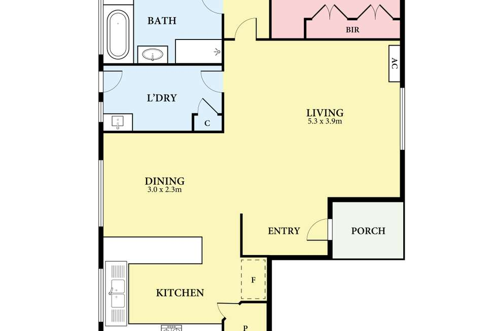 Floorplan of Homely house listing, 2/36 The Boulevard, Thomastown VIC 3074