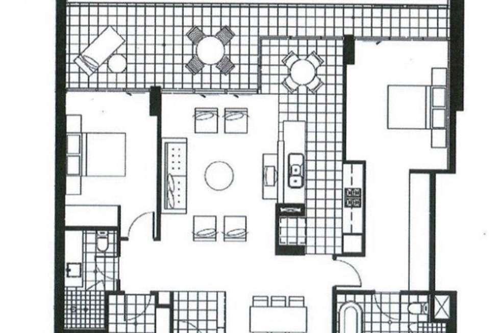 Floorplan of Homely apartment listing, 803/2 Oldfield Street, Burswood WA 6100