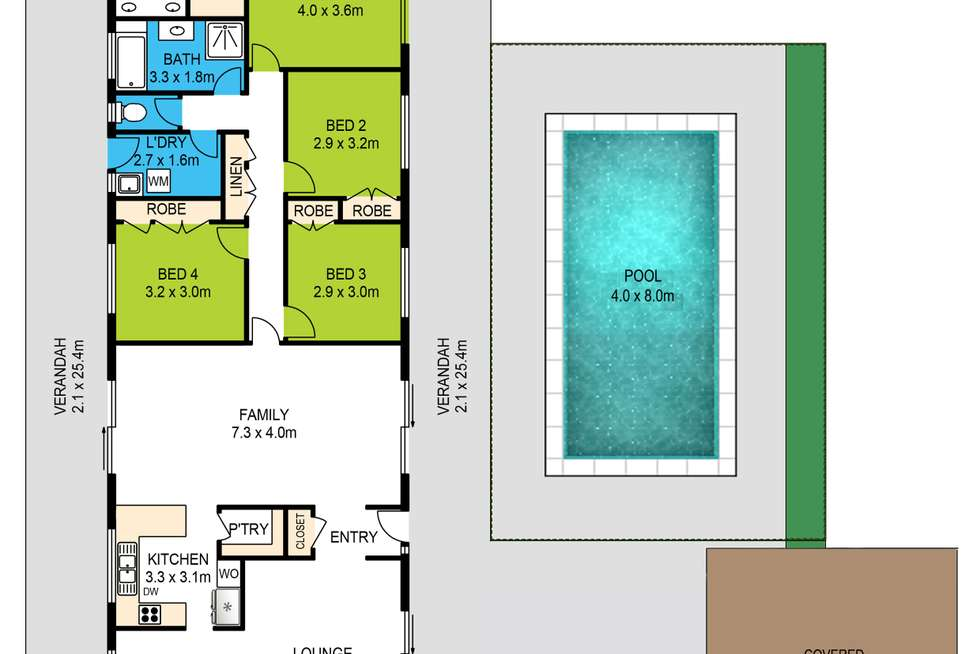 Floorplan of Homely house listing, 1 Hidden Valley Drive, Eatons Hill QLD 4037