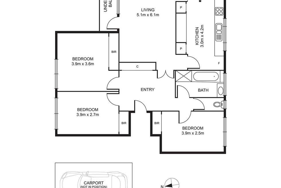 Floorplan of Homely apartment listing, 9/715 Mt Alexander Road, Moonee Ponds VIC 3039