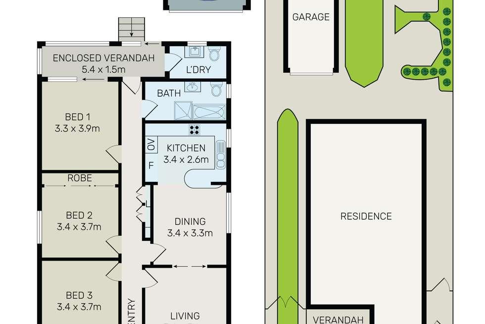 Floorplan of Homely house listing, 11 Trafalgar Street, Peakhurst NSW 2210