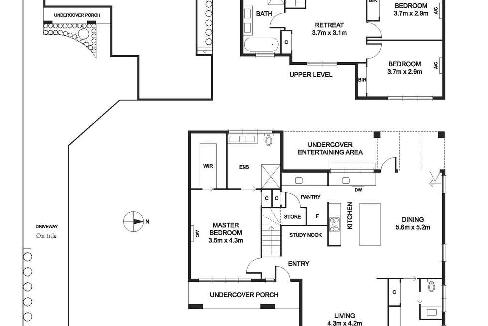 Floorplan of Homely townhouse listing, 13A Newman Street, Niddrie VIC 3042