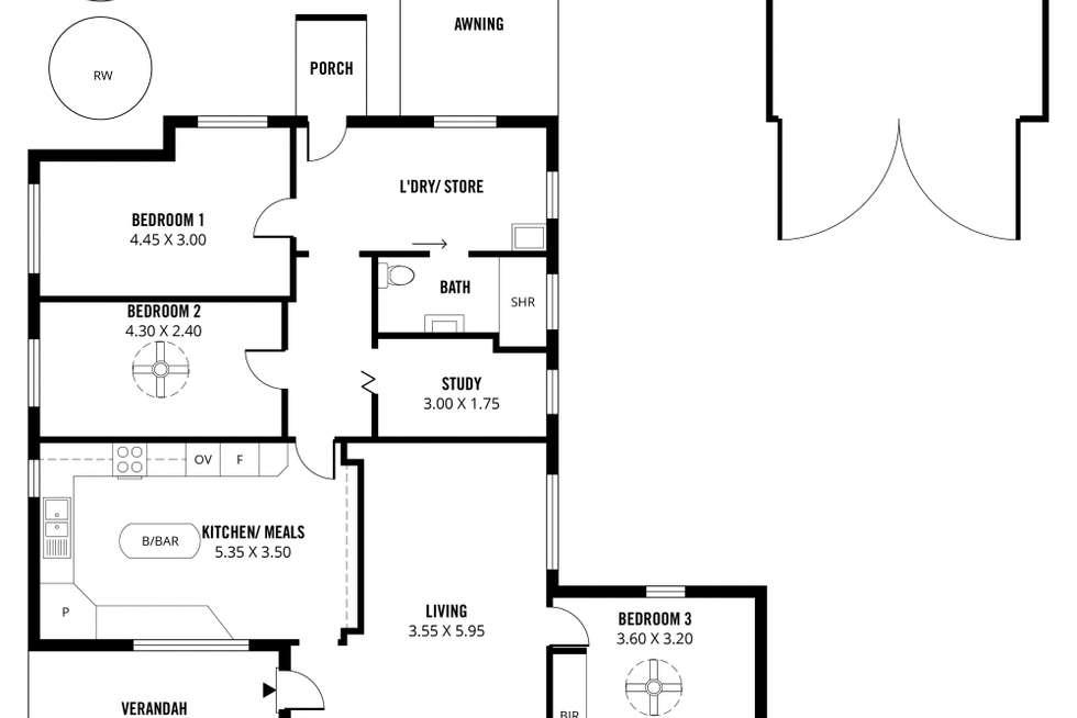 Floorplan of Homely house listing, 41 Falkner Street, Meningie SA 5264