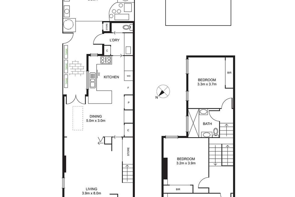 Floorplan of Homely house listing, 61 Gower Street, Kensington VIC 3031