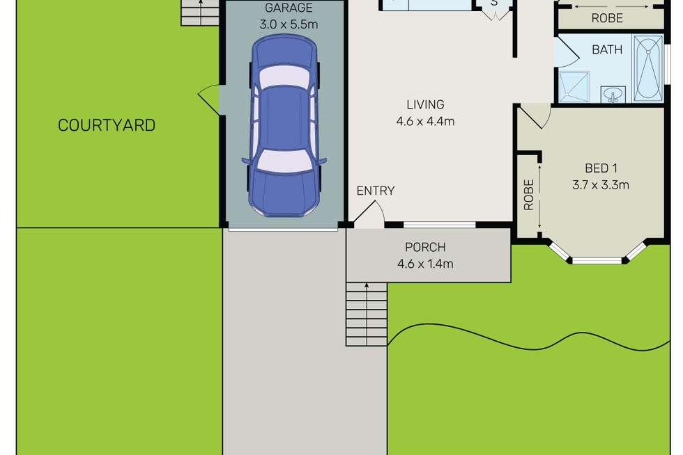 Floorplan of Homely villa listing, 1/141 Penshurst Street, Penshurst NSW 2222