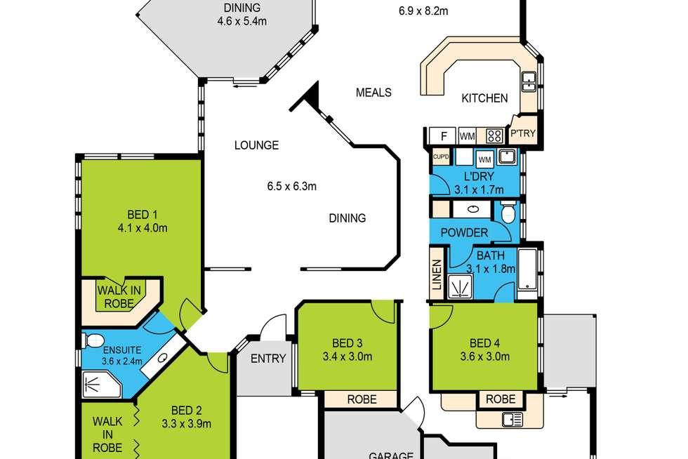 Floorplan of Homely house listing, 43 Fairlane Street, Joyner QLD 4500