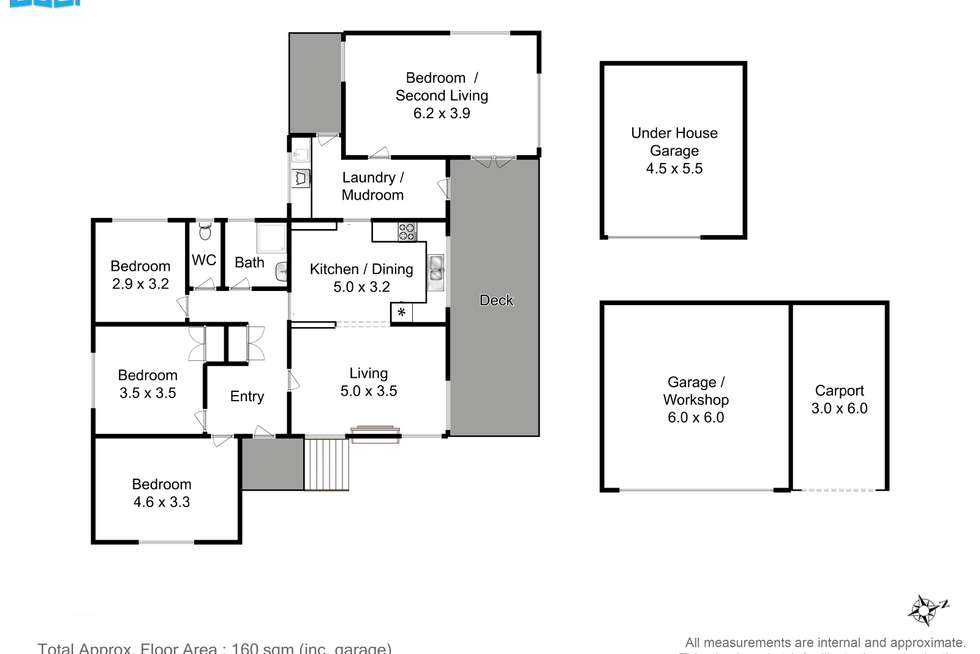 Floorplan of Homely house listing, 3264 Channel Highway, Woodbridge TAS 7162