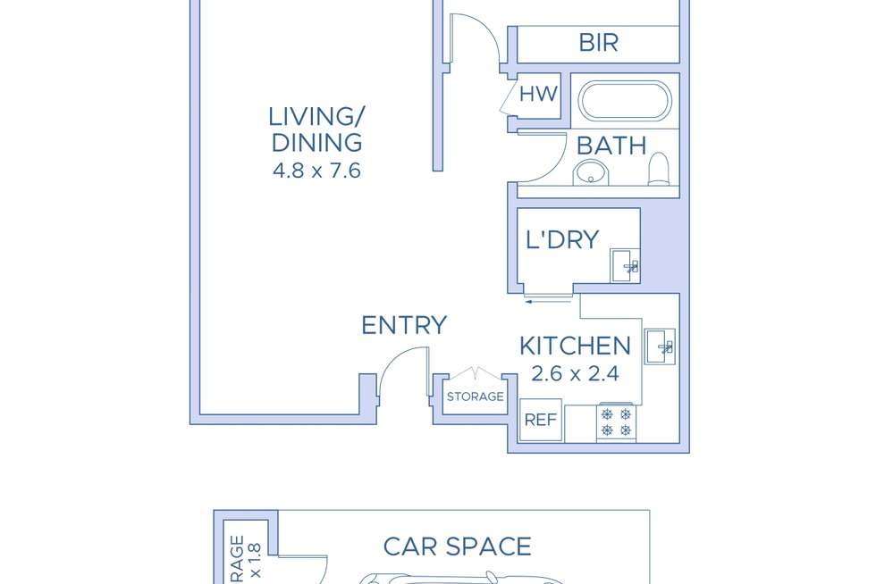 Floorplan of Homely apartment listing, 45/74-80 Reservoir street, Surry Hills NSW 2010