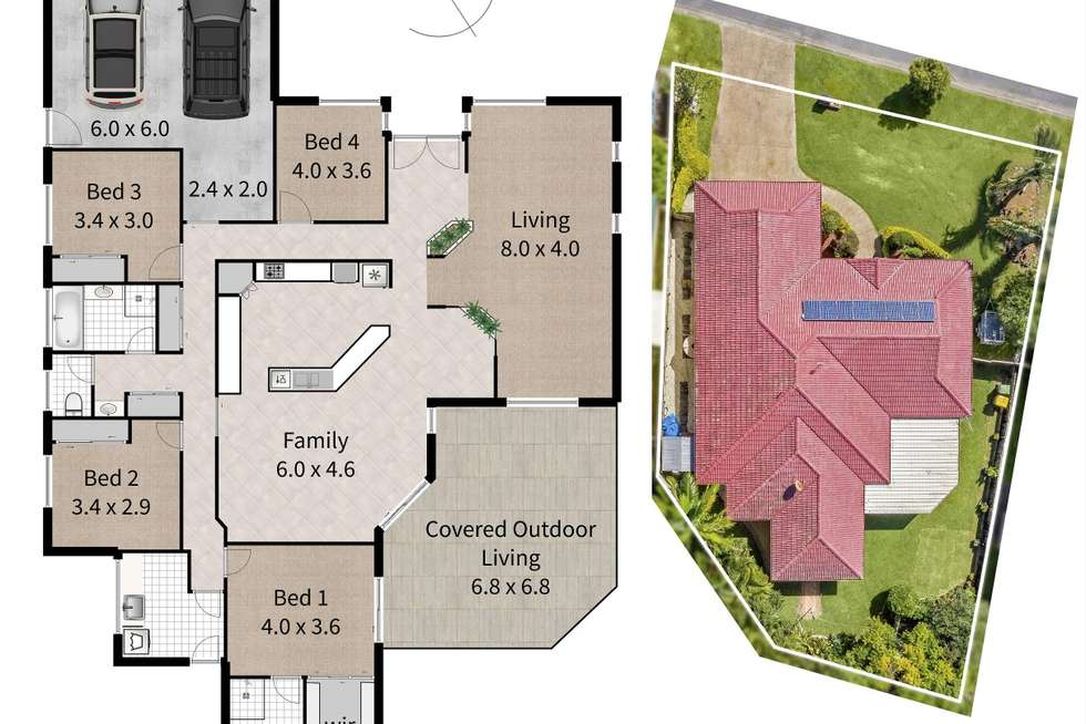 Floorplan of Homely house listing, 3 Outrigger Drive, Robina QLD 4226