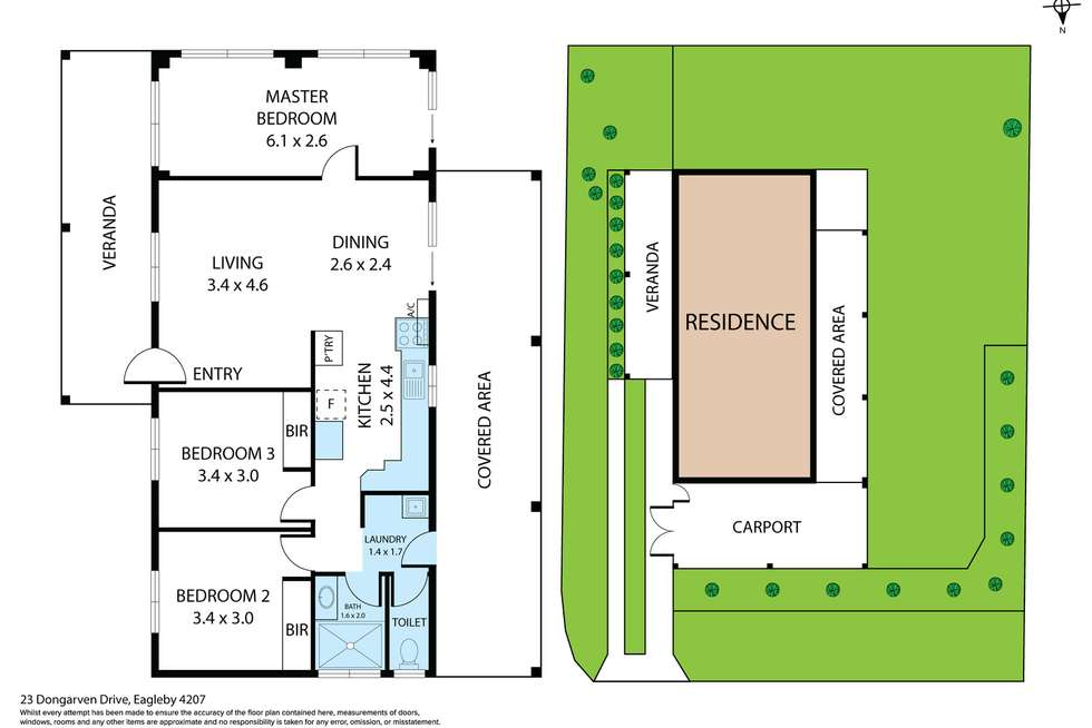 Floorplan of Homely house listing, 23 Dongarven Drive, Eagleby QLD 4207