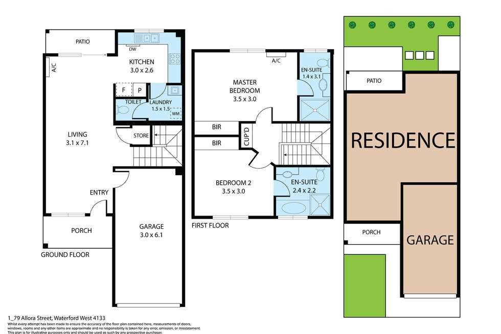 Floorplan of Homely townhouse listing, 17/23 Allora Street, Waterford West QLD 4133