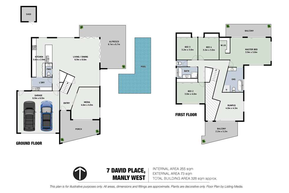 Floorplan of Homely house listing, 7 David Place, Manly West QLD 4179