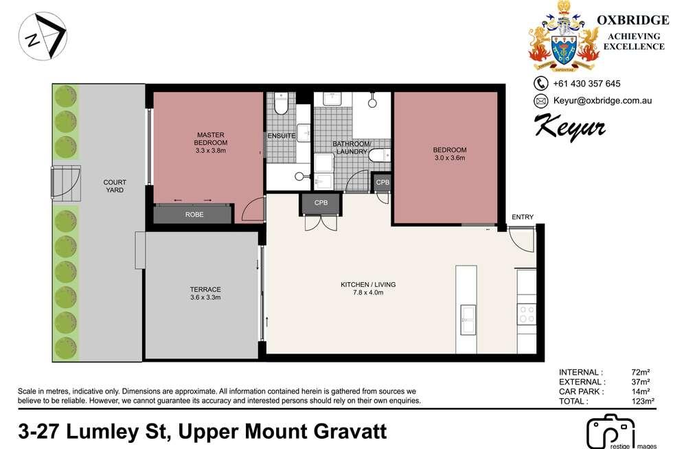 Floorplan of Homely unit listing, 3/27 Lumley Street, Upper Mount Gravatt QLD 4122