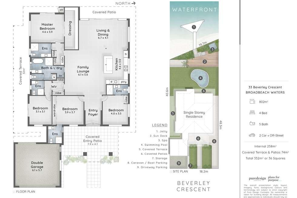 Floorplan of Homely house listing, 33 Beverley Crescent, Broadbeach Waters QLD 4218