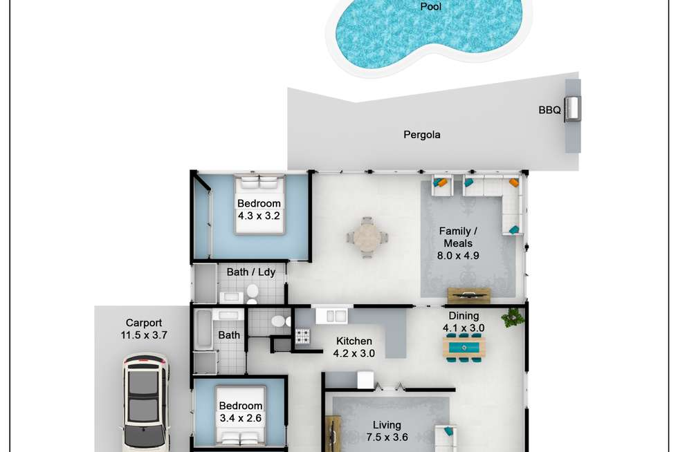 Floorplan of Homely house listing, 6 Olliver Crescent, St Clair NSW 2759