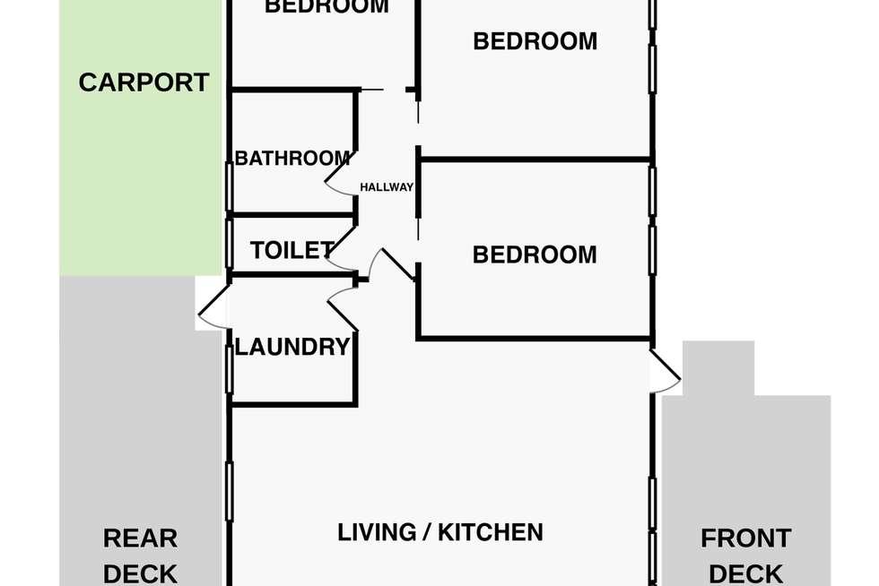 Floorplan of Homely house listing, 13 Pelican Court, Meningie SA 5264