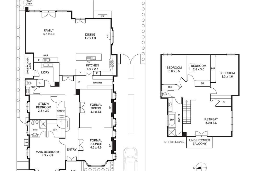 Floorplan of Homely house listing, 12 Madel Avenue, Strathmore VIC 3041