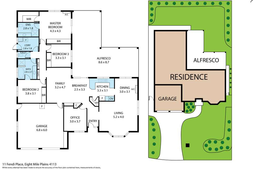 Floorplan of Homely house listing, 11 FENDI PLACE, Eight Mile Plains QLD 4113