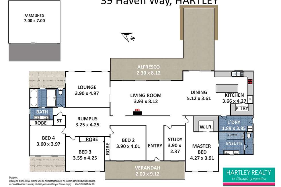 Floorplan of Homely acreageSemiRural listing, 39 Haven Way, Little Hartley NSW 2790