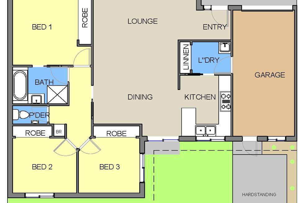 Floorplan of Homely house listing, 216 Dandelion Drive, Rowville VIC 3178