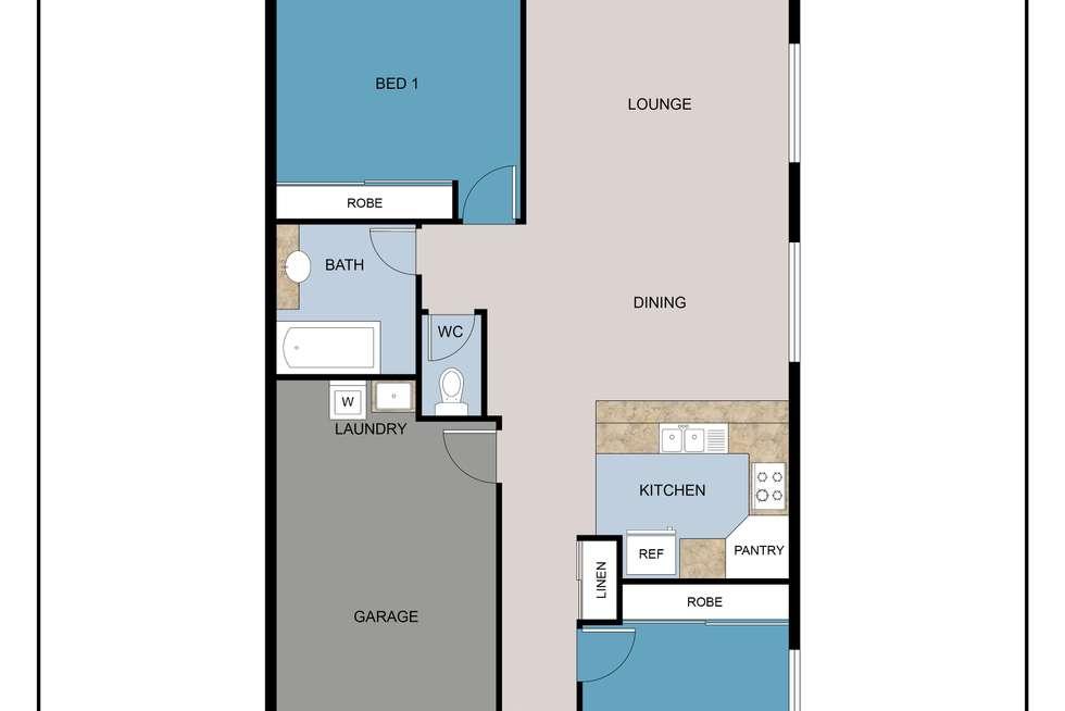 Floorplan of Homely unit listing, 136/14 Everest Street, Warner QLD 4500
