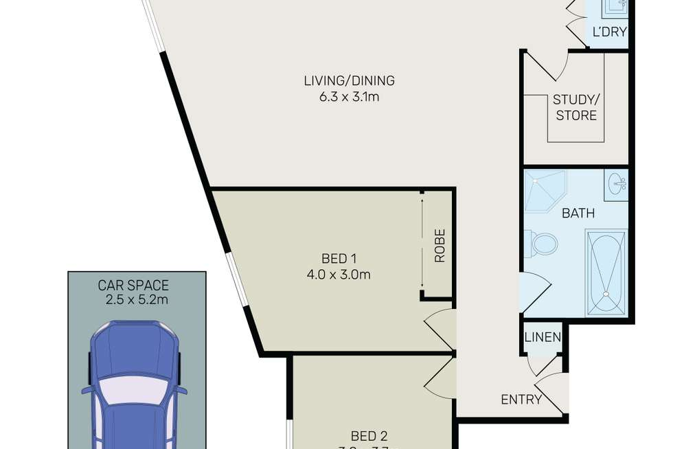 Floorplan of Homely unit listing, 5/226 Rocky Point Road, Ramsgate NSW 2217