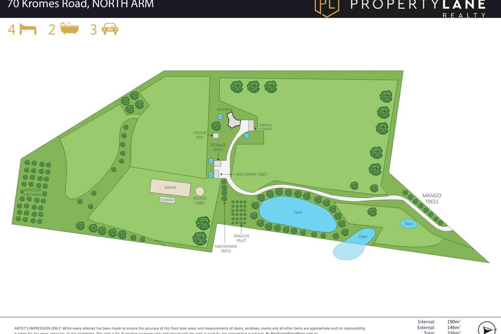 Floorplan of Homely acreageSemiRural listing, 70 Kromes Road, North Arm QLD 4561
