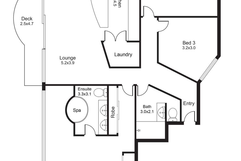 Floorplan of Homely unit listing, 27/73 Spence Street, Cairns City QLD 4870