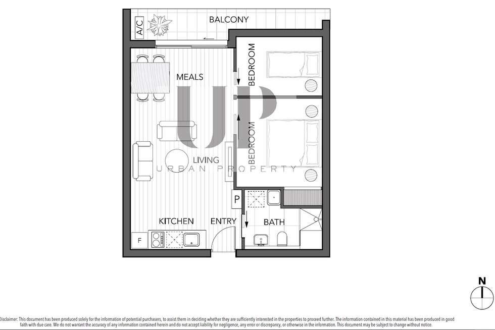Floorplan of Homely apartment listing, 511/243 Franklin Street, Melbourne VIC 3000