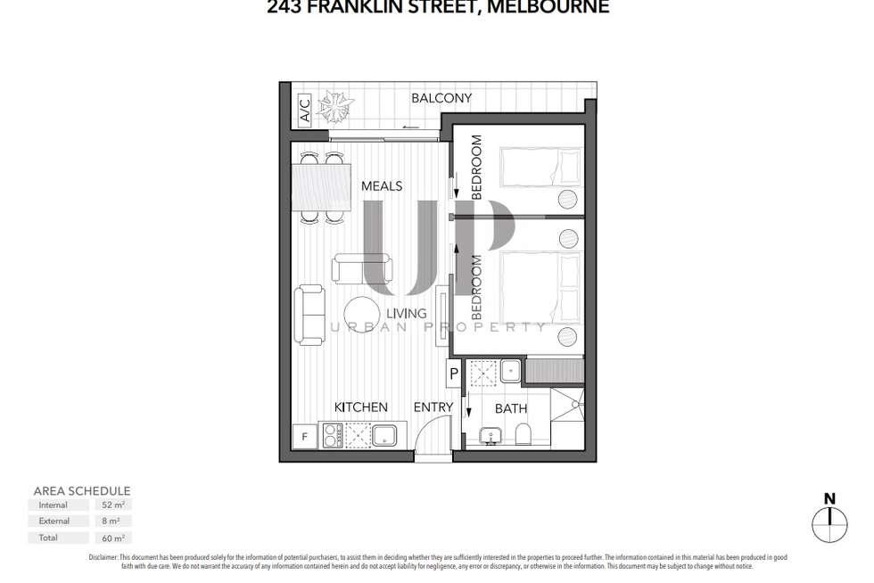 Floorplan of Homely apartment listing, 253 Franklin Street, Melbourne VIC 3000