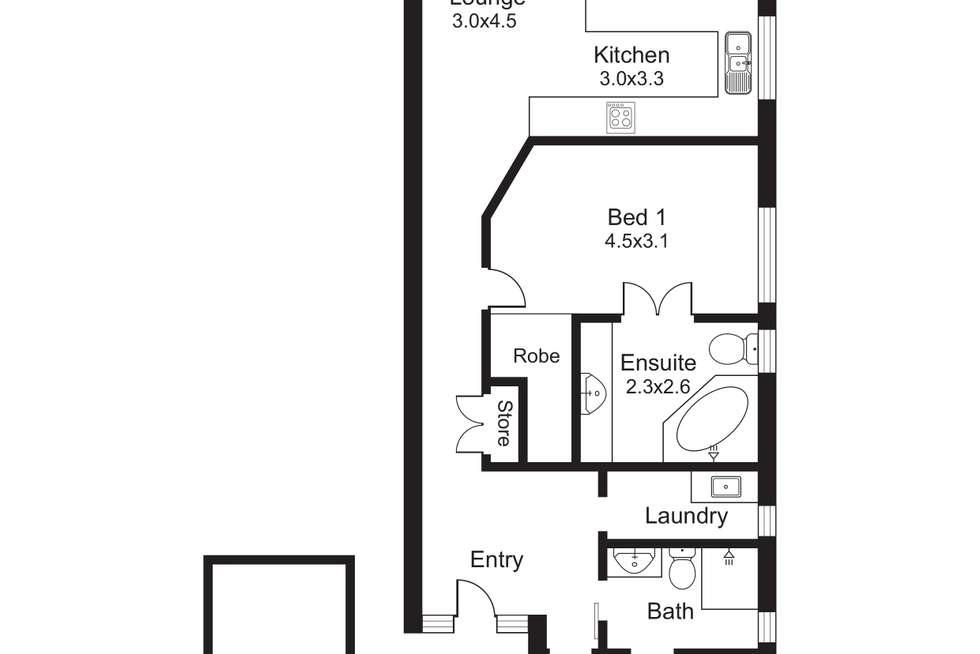 Floorplan of Homely unit listing, 3/41 Sims Esplanade, Yorkeys Knob QLD 4878