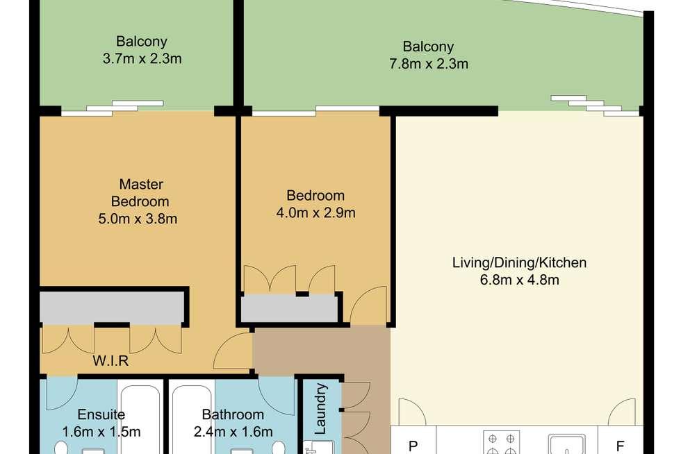 Floorplan of Homely apartment listing, 1904/159 Old Burleigh Road, Broadbeach QLD 4218