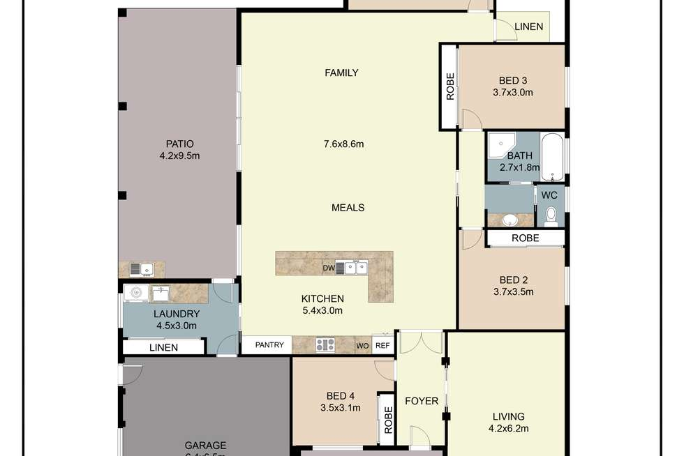 Floorplan of Homely house listing, 35 Namoi Crescent, Dubbo NSW 2830
