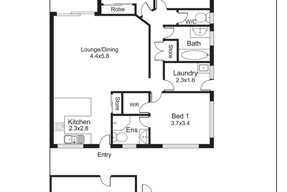 Floorplan of Homely unit listing, 37/43 Skull Road, White Rock QLD 4868