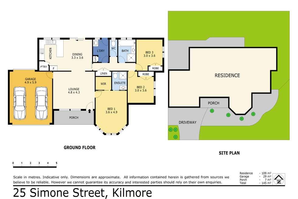 Floorplan of Homely house listing, 25 Simone Street, Kilmore VIC 3764