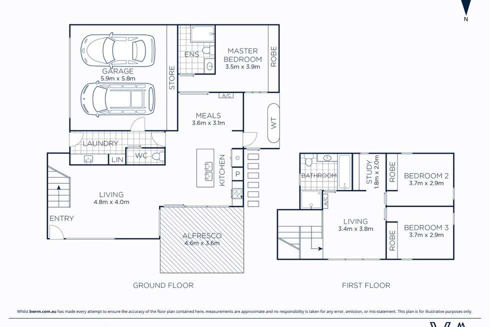 Floorplan of Homely townhouse listing, 1/4 Richmond Court, Geelong VIC 3220