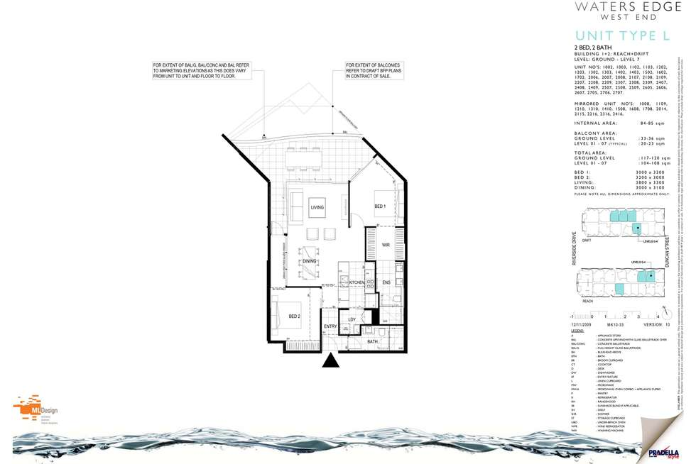 Floorplan of Homely unit listing, 1003/45 Duncan Street, West End QLD 4101