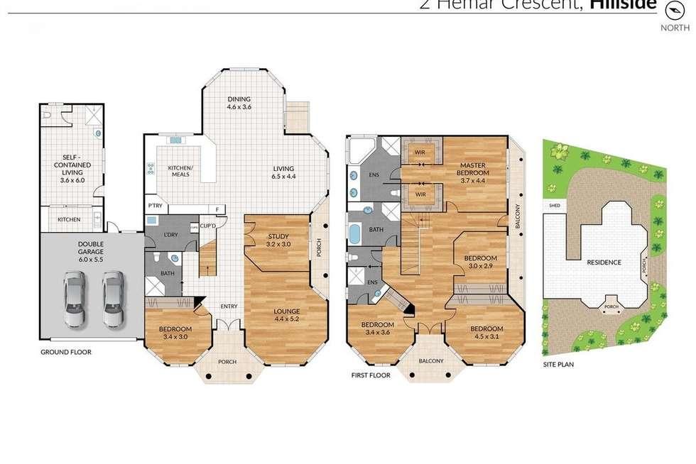 Floorplan of Homely house listing, 2 Hemar Crescent, Hillside VIC 3037