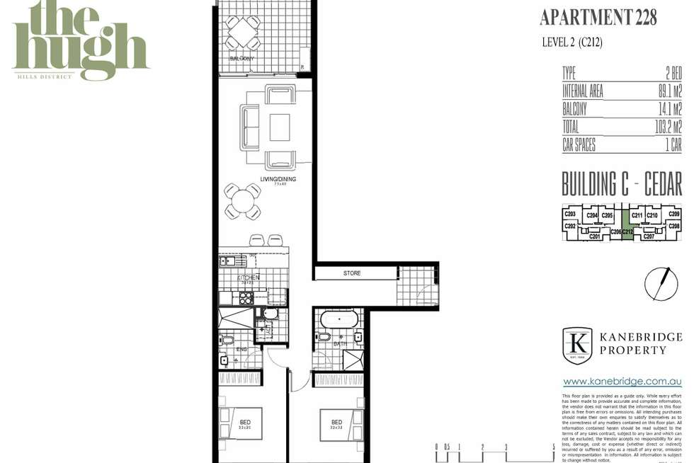 Floorplan of Homely apartment listing, 228/42 - 44 Armbruster Avenue, North Kellyville NSW 2155