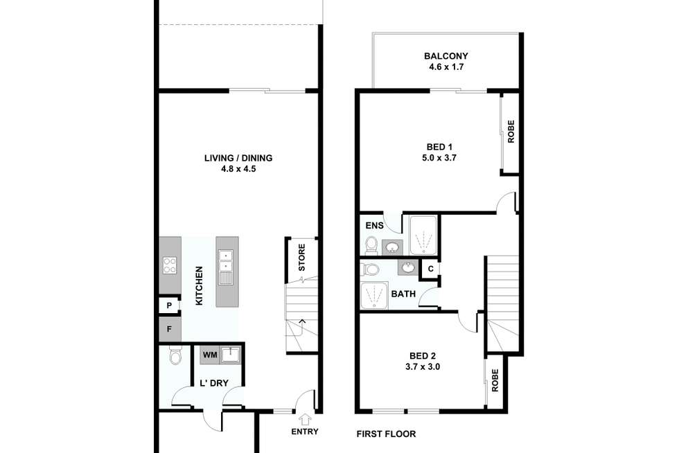 Floorplan of Homely townhouse listing, 35/336 King Avenue, Durack QLD 4077