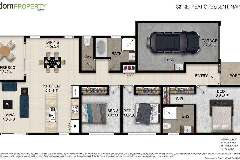 Floorplan of Homely house listing, 32 Retreat Crescent, Narangba QLD 4504
